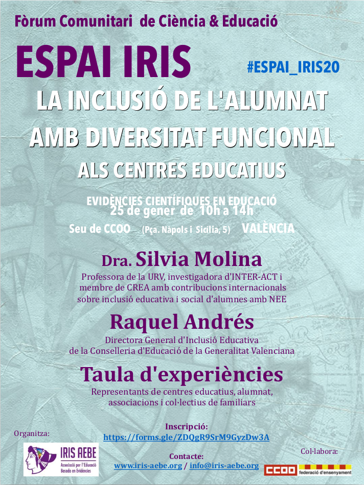 cartel espai iris 25 enero